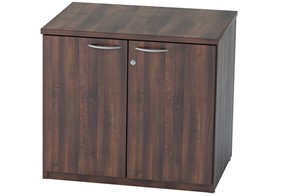 Harmony Walnut Desk High Cupboard