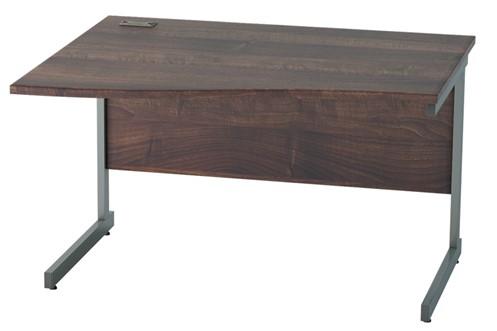 Harmony Walnut Wave Cantilever Desk