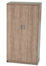 Thames  Two Door Locking Cupboard - Birch