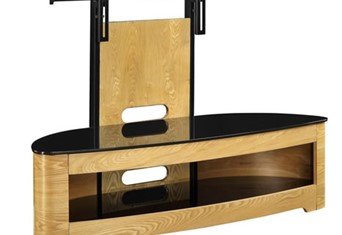 Curve Cantilever TV Stand - Oak