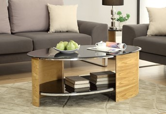 Curve Oval Coffee Table - Oak