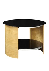Curve Round Lamp Table - Oak