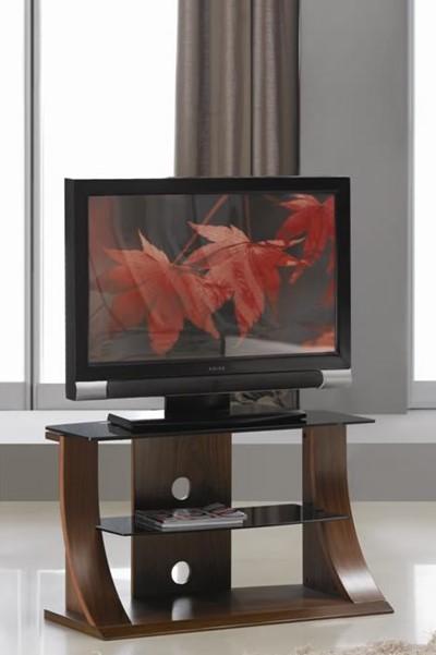 Jual Curve Wedge Tv Stand Modern 2 Sizes Glass Shelf Jf201