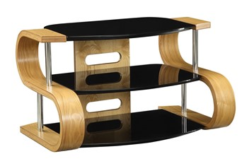 Jual Curve Shaped TV Stand - Oak