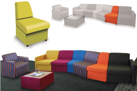 Wave Modular Sofa Convex Unit