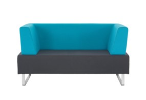 Mosaic Two Seater - Grey Light Blue