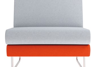 Eden Single Seat - Orange Grey Width 590mm