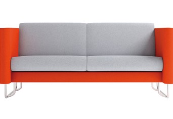 Eden Solo Two Seater - Orange Grey