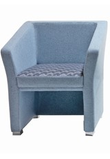 Jill One Armchair - Light Blue