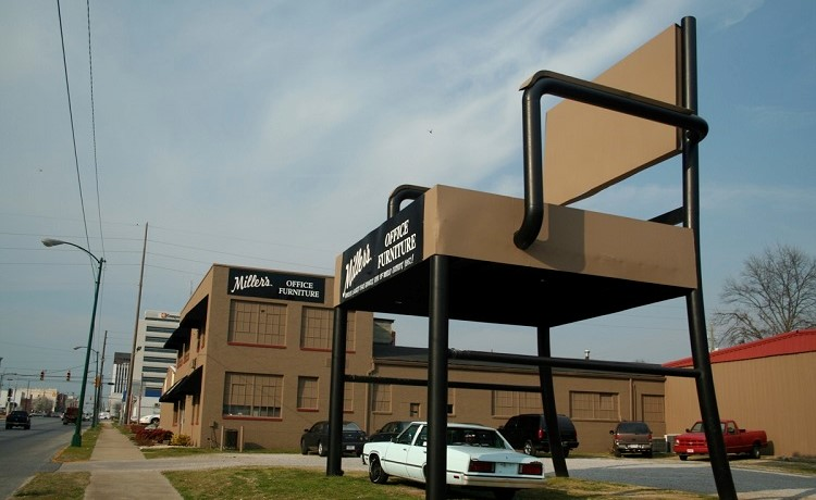 The World's Largest Office Chair, Now an American Roadside Attraction