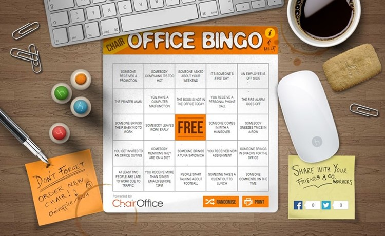 Let's Play Office Bingo!