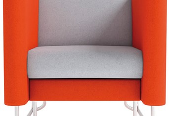 Eden Solo Arm Chair - Orange Grey