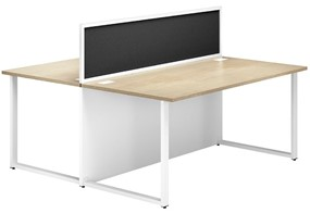 Duo Woodgrain Desk With Alu Screen