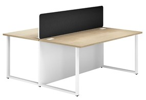 Duo Woodgrain Desk With Eco Screen