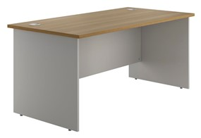 Duo Woodgrain Rectangular Panel End Desk