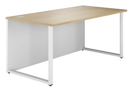 Duo Woodgrain Rectangular Desk