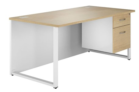 Duo Woodgrain Single Pedestal Desk
