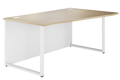 Duo Woodgrain Wave Desk