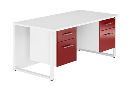 Duo Reflections Double Pedestal Desk