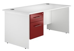 Duo Reflections Single Panel End Pedestal Desk