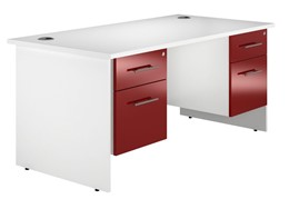 Duo Reflections Double Panel End Pedestal Desk