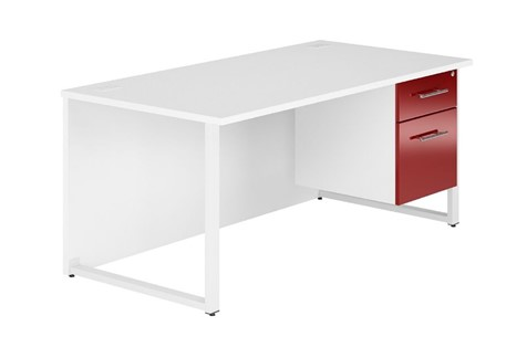 Duo Reflections Single Pedestal Desk