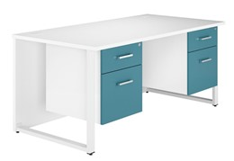 Duo Kaleidoscope Double Pedestal Desk