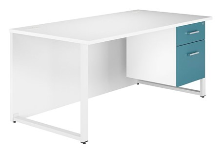 Duo Kaleidoscope Single Pedestal Desk