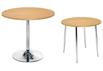 Ellipse Table - Beech 4 Leg Table