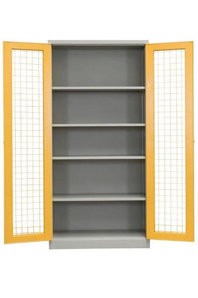 Mesh Metal Storage Cupboard