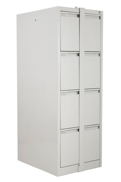 Steel Four Drawer Filing Cabinet With Locking Bar