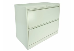 Steel Side Filing Drawers - 2 Drawers White