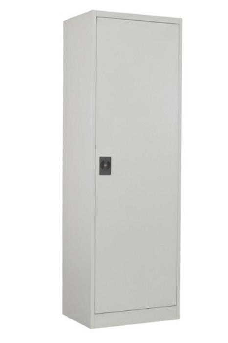 Economy Single Door Steel Metal Office Cupboard Lockable Light Grey