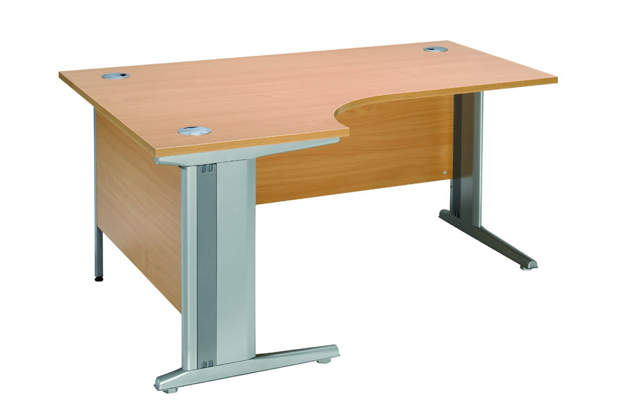 Modus L Shaped Cantilever Computer Desk Wood Worktop