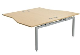 Linear Double Sided Wave Extension Desk