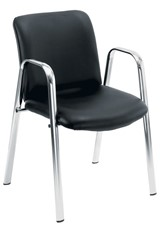 Pavilion Chrome Leather Chair