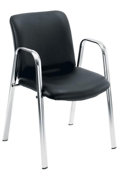 Pavilion Chrome Leather Chair