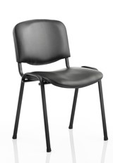 Vinyl Conference Chair - Black No