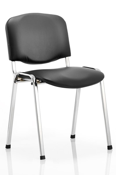Vinyl Chrome Conference Chair