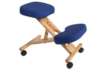 Wooden Kneeling Chair - Blue