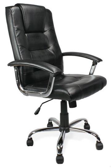 loughborough leather manager office chair high backed