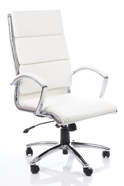 Faux Leather Office Chair, White Leather Computer Chairs