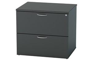 Nene Black 2 Drawer Side Filer