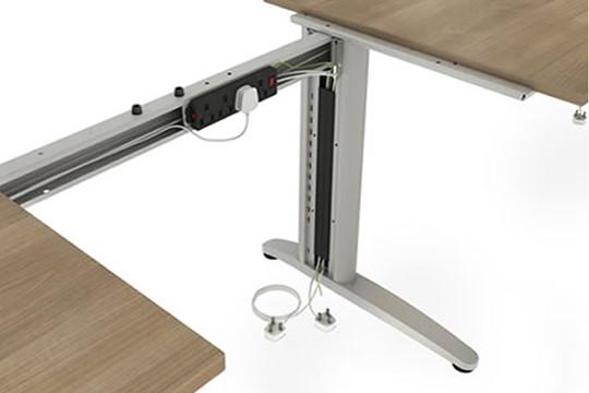 Domino Corner Cantilever Desk