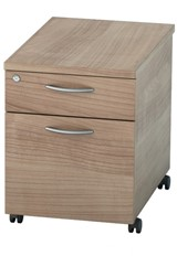 Thames Mobile Pedestal Drawers - Two Drawer Birch
