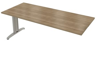 Domino Beam Plus 1 Meeting Table - 1800mm Birch Silver