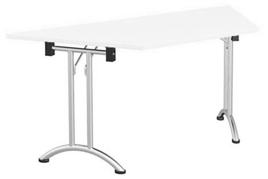 Avon White Folding 22.5 Degree Trapezoidal Table