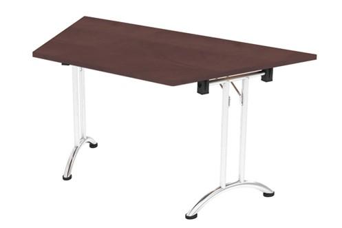 Harmony Walnut Folding 22.5 Degree Trapezoidal Table