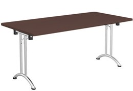Harmony Walnut Folding Rectangular Table