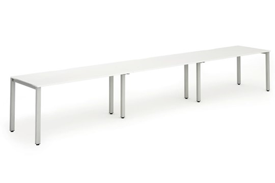 Portland 3 Person Single Bench Desk